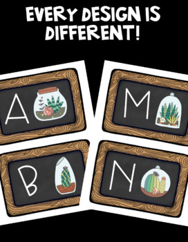 Succulent Theme Word Wall Letter Headers!