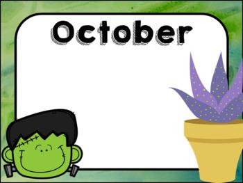 Succulent Themed Birthday Chart