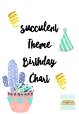Succulent Themed Birthday Chart (Editable) #ausbts18