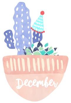 Succulent Themed Birthday Chart (Editable) #ausbts18