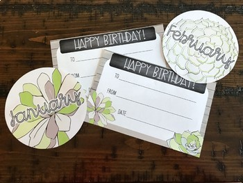 Succulent Themed Birthday Pack