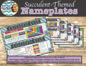 Succulent-Themed Nameplates