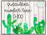 Succulent Themed Number Line 0-200