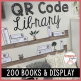 Editable QR Code Library Shelf Display Listening Post