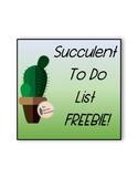 Succulent Themed To Do / Goal List