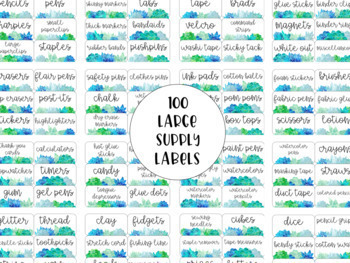 Succulent Toolbox Organizer Supply Labels (200 Labels with 22 Editable Labels)