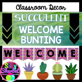 Succulent Welcome Bunting / Banner