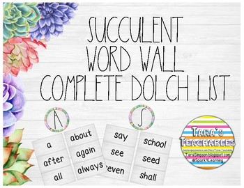 Succulent Word Wall