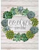 Succulent Wreath Planner Cover