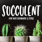 Succulent: a tall hand-written font with extras!