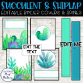 Succulent and Shiplap Binder Covers and Spine Labels