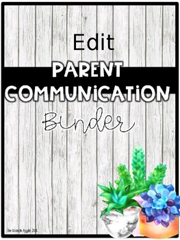 Succulent and Shiplap Binder Covers and Spines- Editable