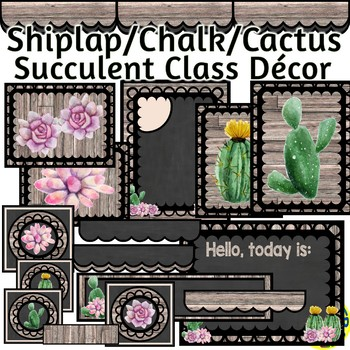 Succulent and Shiplap Decor for your Classroom