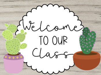 Succulent Welcome Signs Worksheets & Teaching Resources | TpT