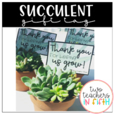 Succulent gift tag- editable