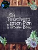 Succulents Teacher Planner