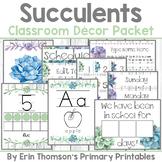 Succulents Classroom Decor Bundle {Shabby Chic Shiplap} ~ Editable