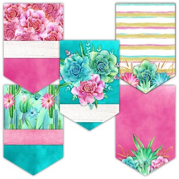 Succulents Classroom Theme Decor - Banners