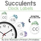 Succulents Clock Labels
