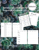 Succulents Planner and Calendar (Editable and Customizable)