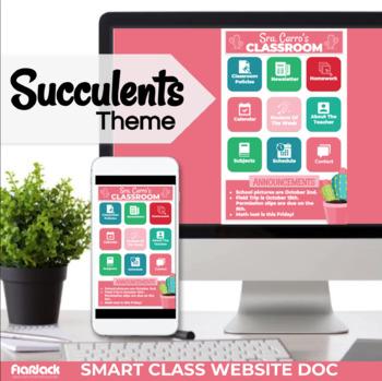 succulents smart class website doc google slides style tpt
