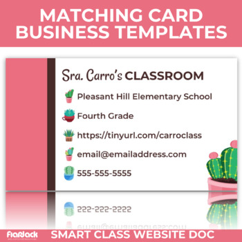 Succulents Smart Class Website Doc (Google Slides Style!)