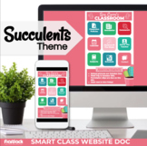 Parent Communication Template | Google Slide | Class Website | Succulents Cactus