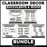 Succulents & Wood Classroom Decor - Colors and Textures fr
