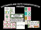 Succulents and Cacti Bundle: Classroom Decor