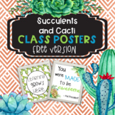 Succulent and Cactus Class Decor Posters **Freebie**