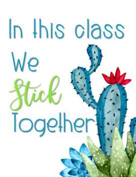Succulents and Cactus Positive Affirmation Posters *Editable Classroom Decor*