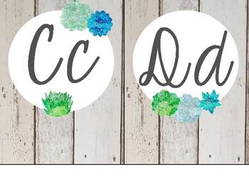 Succulents and Shiplap Alphabet