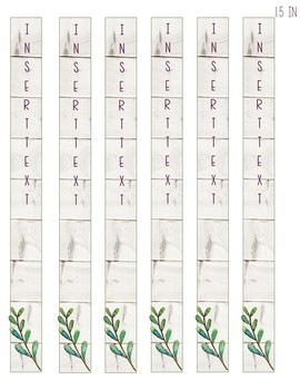 Succulents and Shiplap *Editable* Binder Cover with Spine