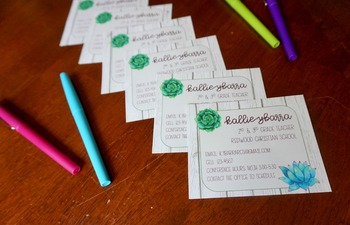 Succulents and Shiplap *Editable* Teacher Information Cards