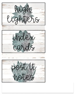 GROWING Succulents and Shiplap Organization Bundle--Farmhouse Inspired