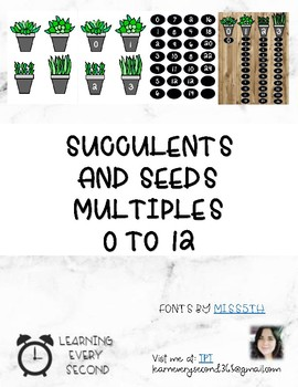 Succulents and it's seeds (Multiples 0-12)