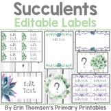 Succulents Labels ~ Editable