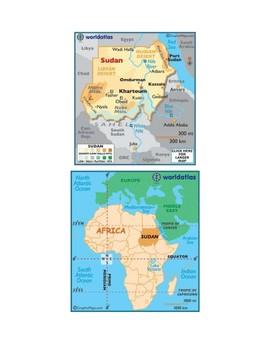 Sudan Map Scavenger Hunt