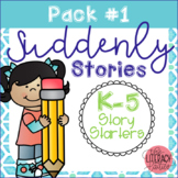 K-5 Story Starter Writing Prompts - Suddenly Stories {Pack 1}