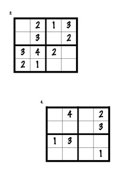 Sudoku 4 kids (early beginner to intermediate level)