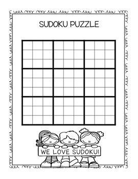 Sudoku Blank Puzzle - Freebie!