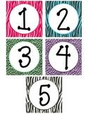 Sudoku Bulletin Board Zebra Print Numbers 1-9