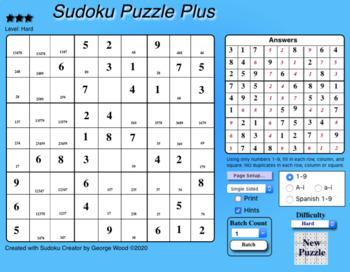 Sudoku Creator by George Wood (Windows)