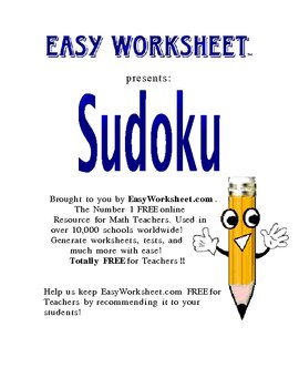 Sudoku! Have students practice Critical Thinking!