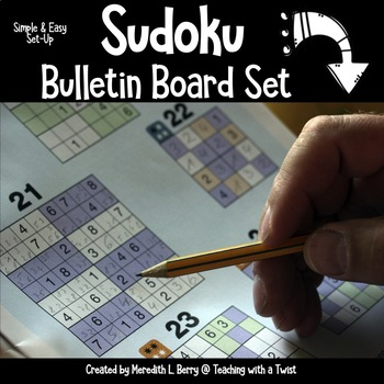 Sudoku Interactive Bulletin Board Set