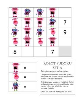 Sudoku Math Center Critical Thinking