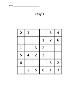 Sudoku Puzzle 6x6