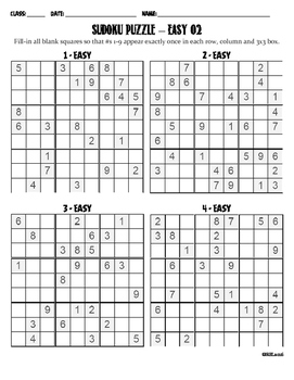 Sudoku Puzzle Easy 02