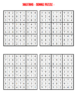 Sudoku Puzzle - Mixed Difficulty 2