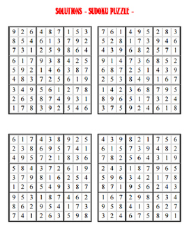 Sudoku Puzzle - Mixed Difficulty 4